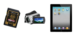 SD cards, Hard Drive Camcorders, Tablets