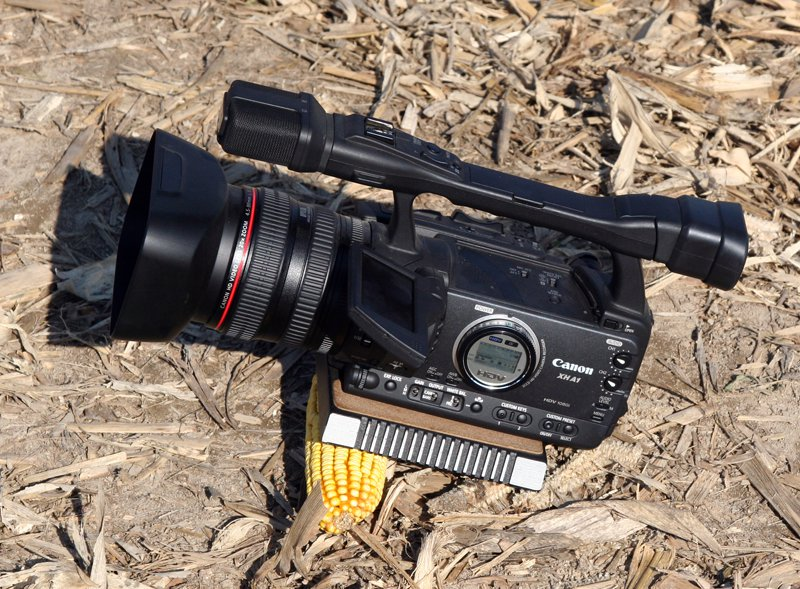 Be creative - even a corncob can be used to stabilize a camera in a pinch